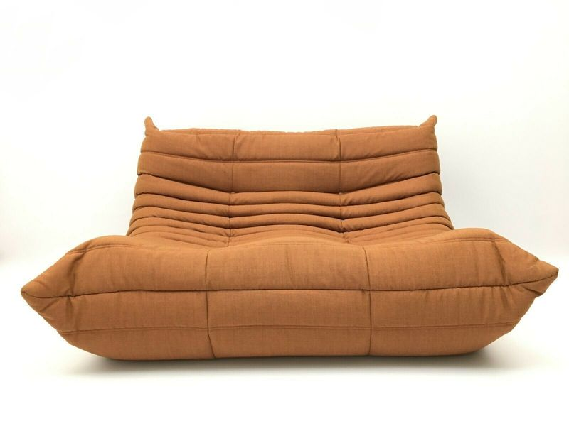 Ligne Sofa Genuine Orange Longue Brown Design Roset Two Chaise Seater Togo tQrdshCBx