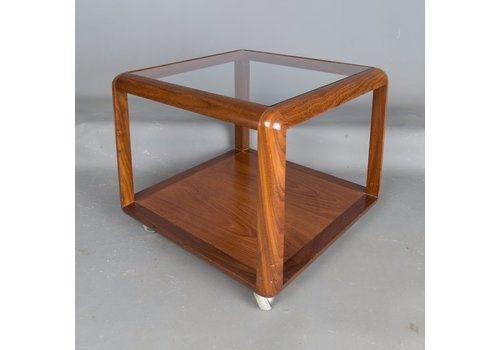 G Plan Square Teak Gl Coffee Table Side Tables Retro Mid Century