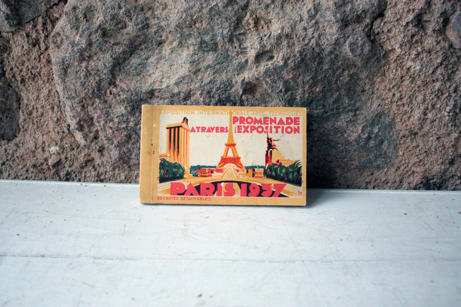 Art Deco French Vintage Post Card Lithograph Booklet For