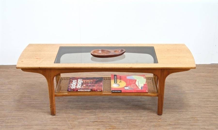 Vintage Mid Century Teak & Glass Coffee Table