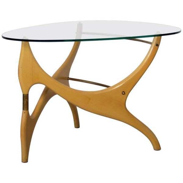 Sensational Birchwood Glasstop Coffee Table In The Style Of Carlo Mollino Inzonedesignstudio Interior Chair Design Inzonedesignstudiocom