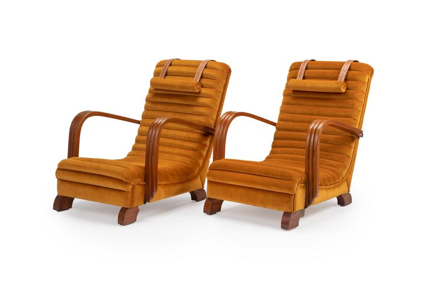 The 'Streamline Moderne' Art Deco Club Lounge Chairs. photo 1