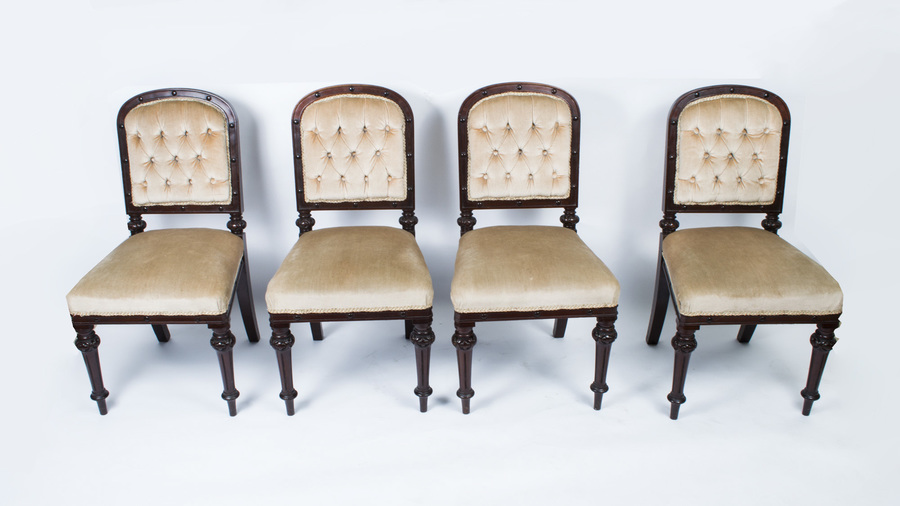 Set 4 Antique William Iv Dining Chairs Mahogany C1835