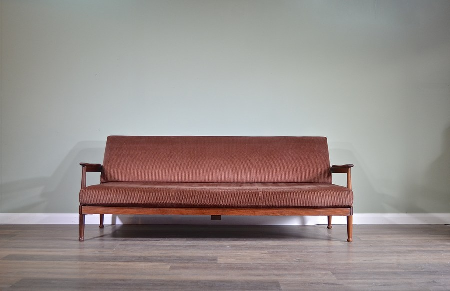 Midcentury Sofa Guy Vintage Retro Daybed Rogers Manhattan Afromosia Style BedDeliveryModern Danish 7f6ybg