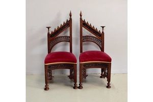 Thumb pair of syrian atypical chairs 19th 0