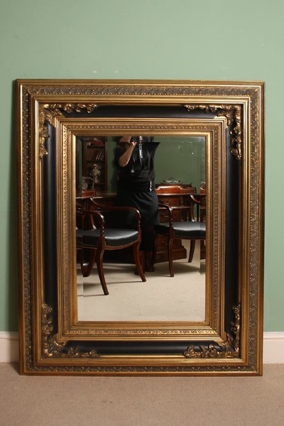 Stunning Large Rectangular Gilded Italian Mirror