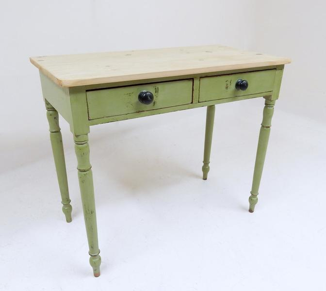 Victorian Green Pine Side Table