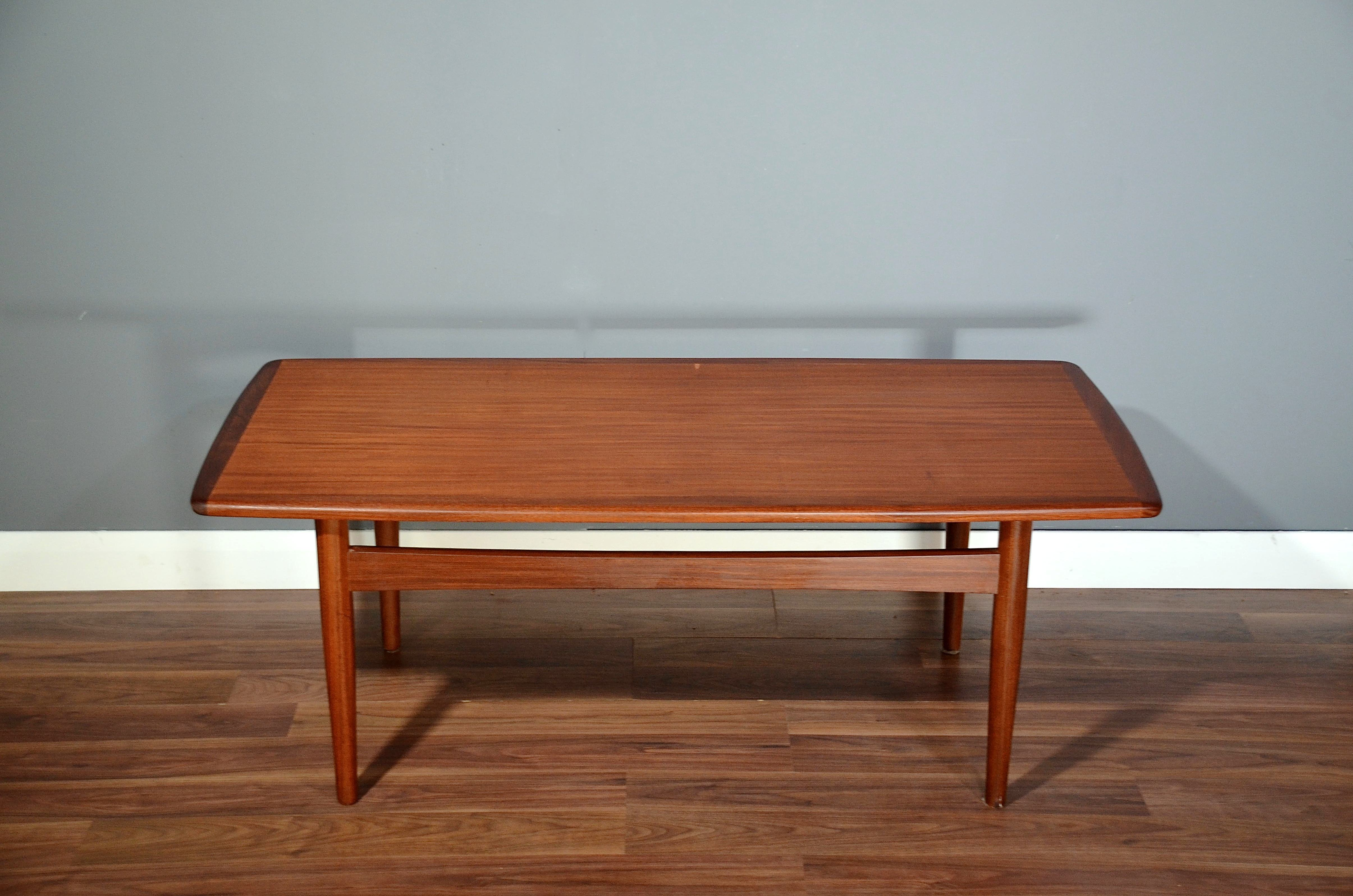 Vintage Danish Teak Coffee Table Delivery Modern Midcentury Retro Vinterior
