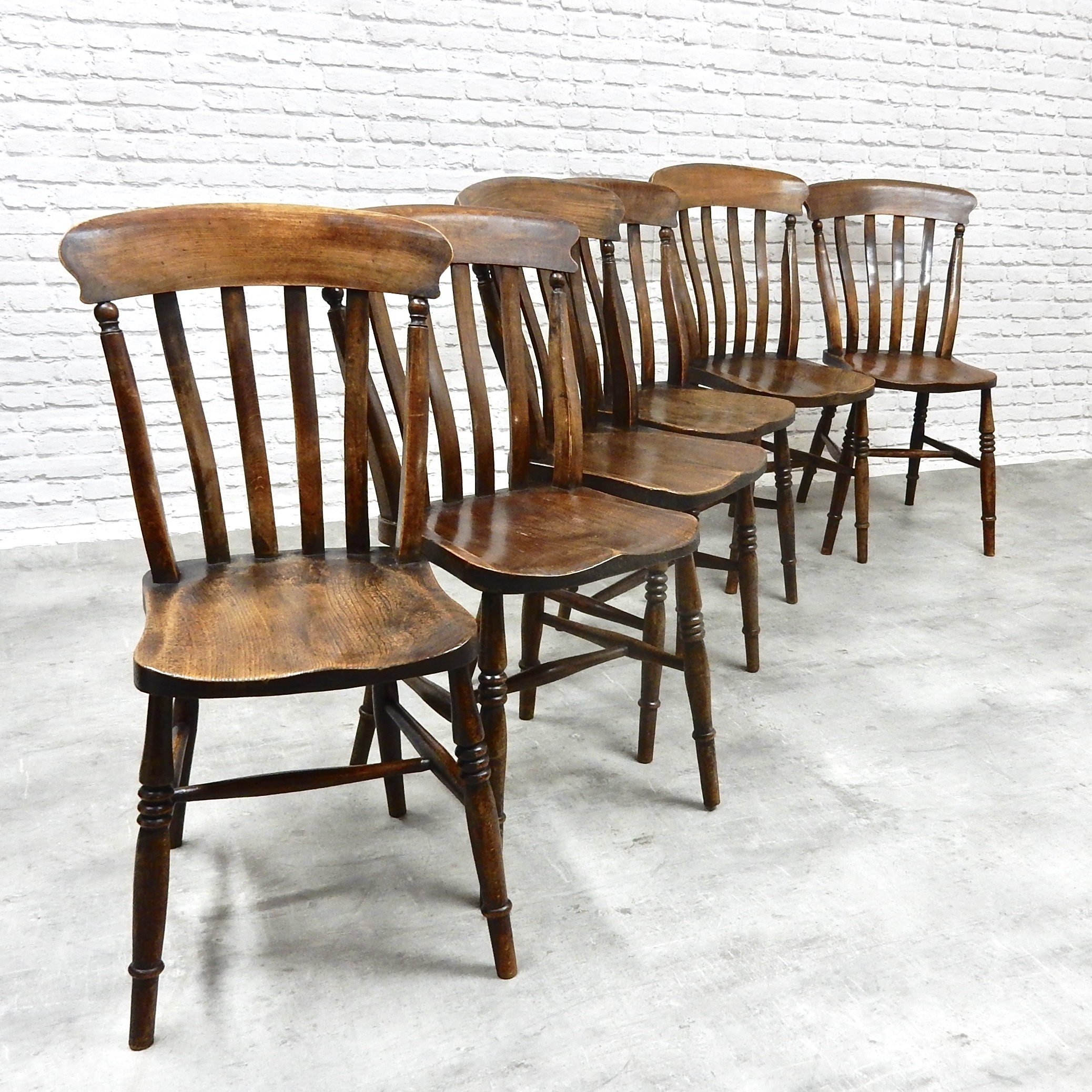 Kitchen Chairs Ireland: Set Of 6 Antique Country Kitchen Chairs