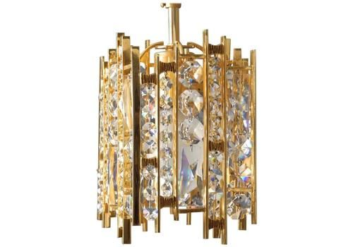 Five Heavy Vintage Glass Ceiling Lamp Shade Decorated Cylinder Gold Tint High Quality Goods Decorative Arts