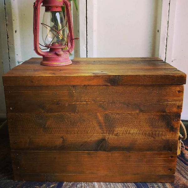 Large Rustic Handmade Wooden Storage Box