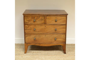Thumb small regency mahogany antique chest of drawers 0