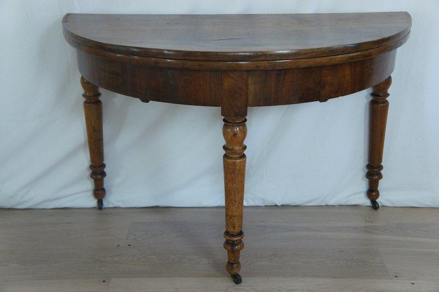Extendable Vintage Demilune Table
