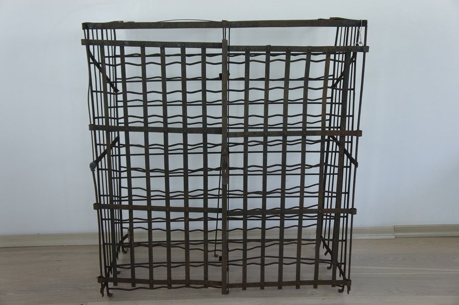 Large Lockable French Metal Wine Cage photo 1