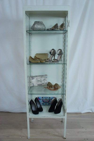 Metal And Glass Display Cabinet