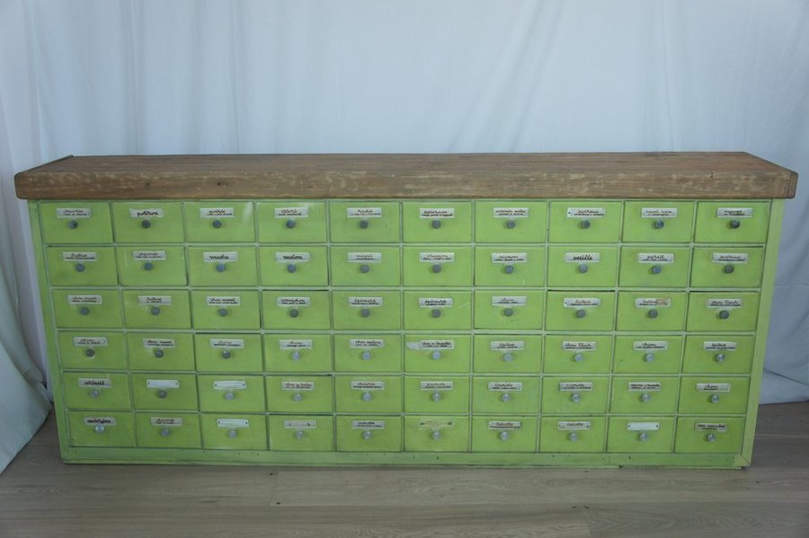 Vintage Original French Spice Mixer's Drawers