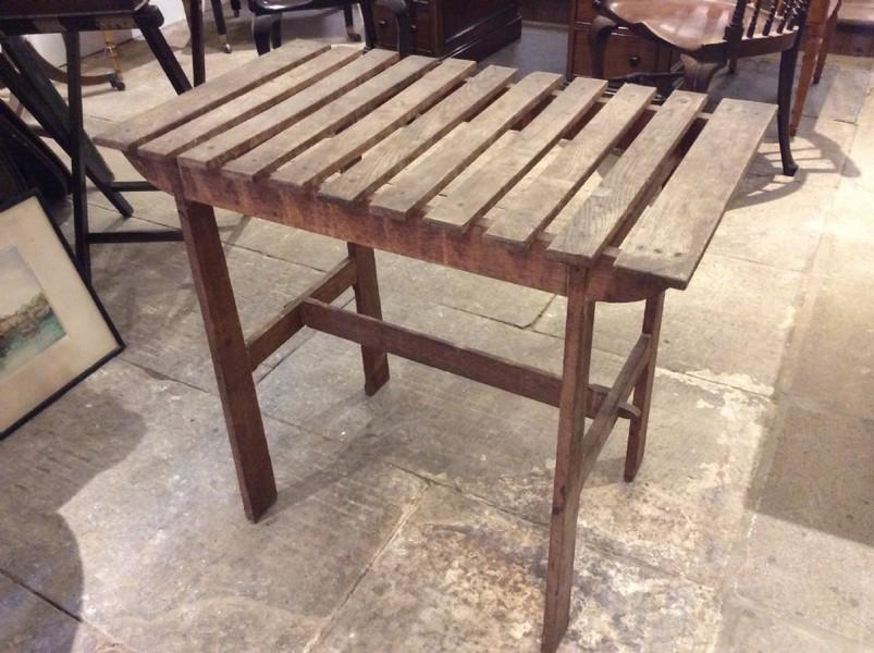 Arts & Crafts Oak Slatted Table