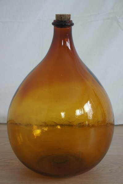 Amber Glass Bottle With Cork
