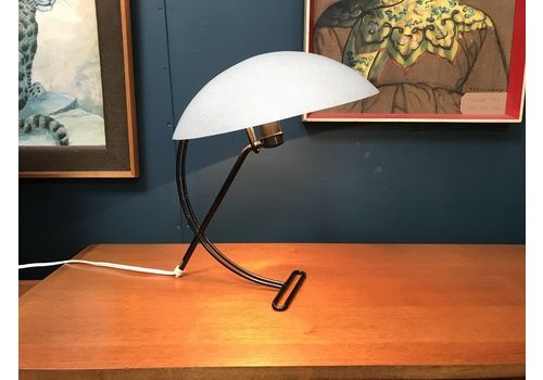 Lamps Vintage 1980 Cream Plastic Metal Table Desk Lamp Light Uk Made