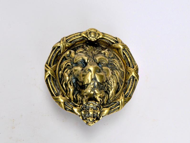 Very Large Size Brass Lion Head Door Knocker