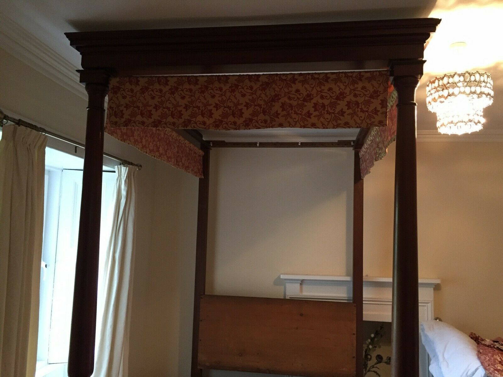 Antique Four Poster Bed Early 20th Century Victorian Style Vinterior