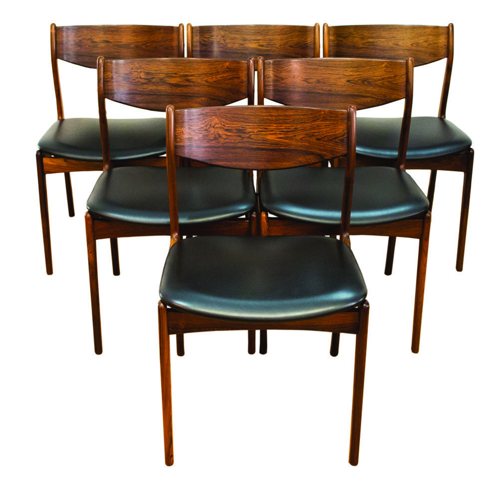 Danish Rosewood Dining Chairs By Pe Jorgensen For Farso Stolefabrik 1960s Set Of 6