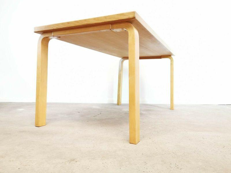 Alvar Aalto For Artek Birch Wood Dining Table Rectangular Mid Century Vintage