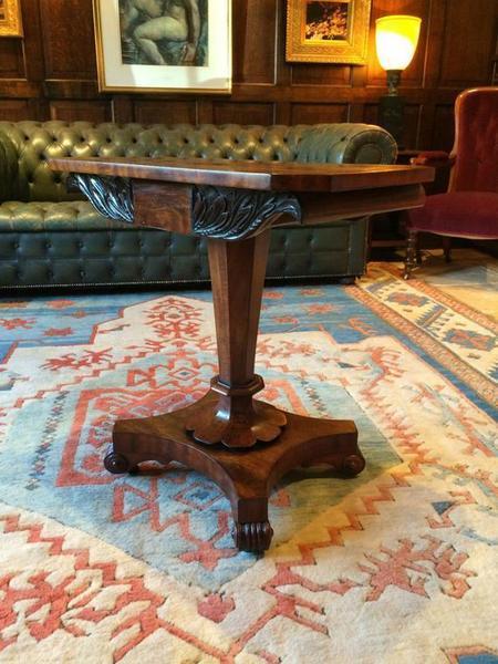 Antique Mahogany Side Table 19th Century