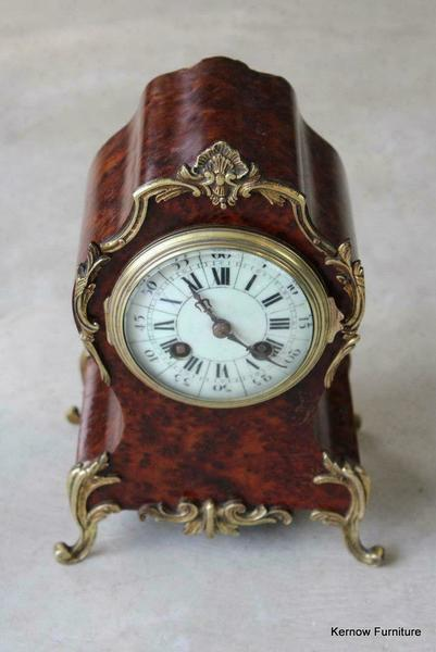 Antique Walnut Louis X Vth Style French Mantle Clock