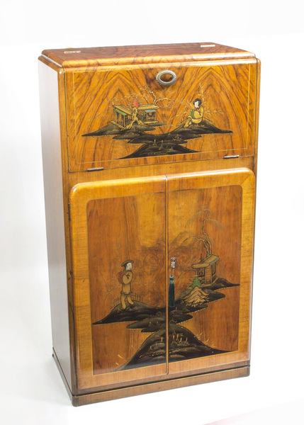 Antique Art Deco Chinoiserie Cocktail Cabinet photo 1