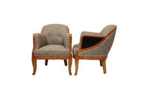 Thumb fine pair of art deco armchairs by hille 0