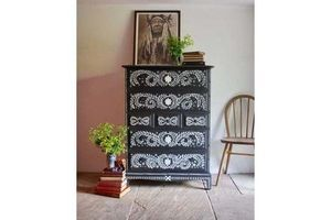 Thumb vintage hand painted chest of drawers storage 0