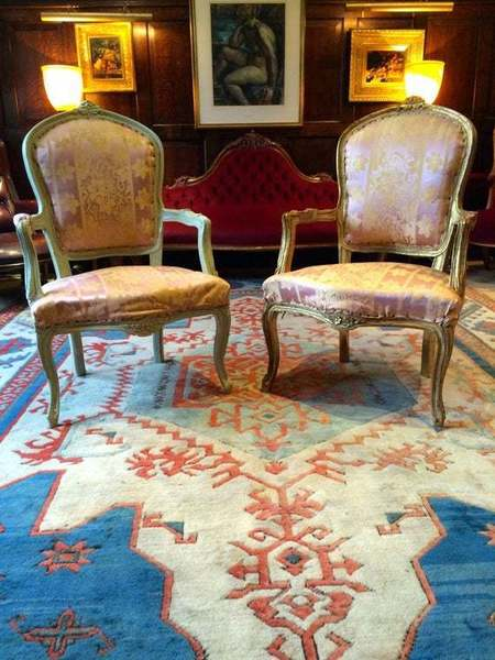 Antique Pair Of French Louis Xv Style Armchairs