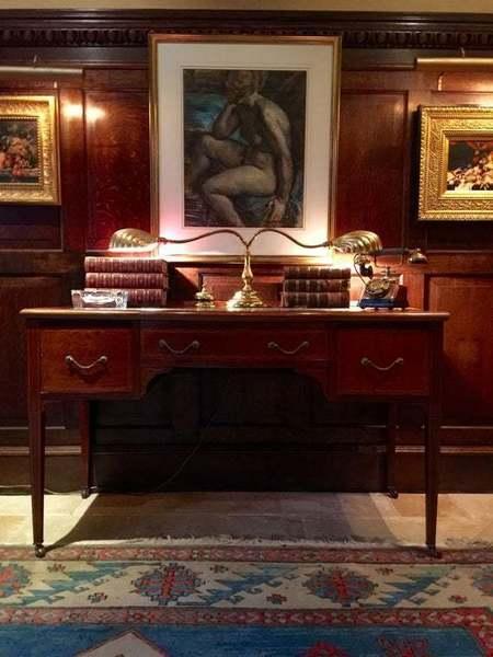 Antique Mahogany Desk Writing Table Shabby Chic Edwardian