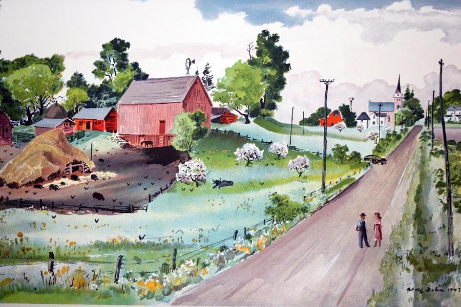 "Adolf Dehn (1895 – 1968) For School Prints Ltd. ""Minnesota"", 1947"