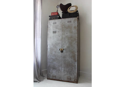 Charlie Vintage Reclaimed Urban Industrial Chic 1950s Stripped Down And Distressed Bare Steel Wardrobe