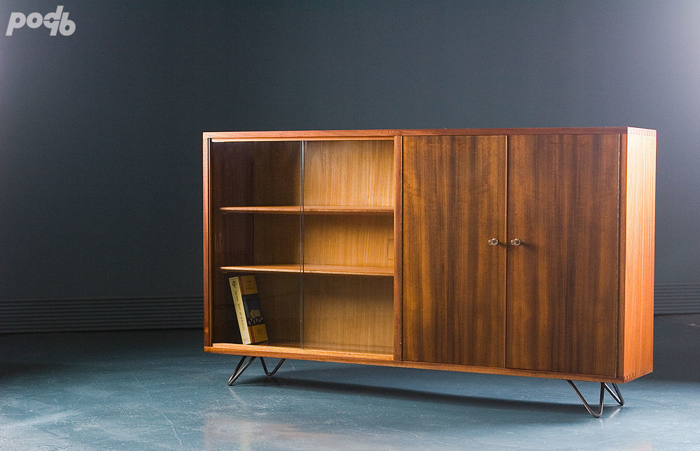 Morris Of Glasgow Teak Display Cabinet 1960s Vinterior