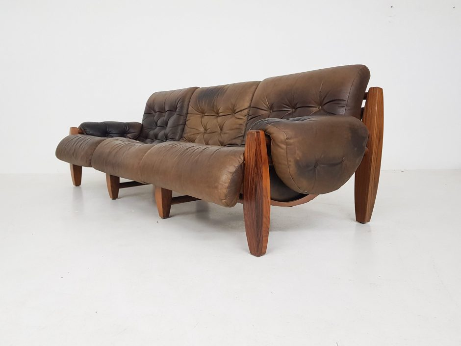 Percival Lafer Style Oak And Leather
