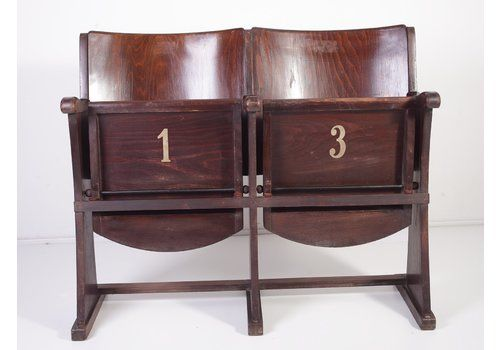 Mid Century 2 Seater Cinema Bench From Ton, 1960s