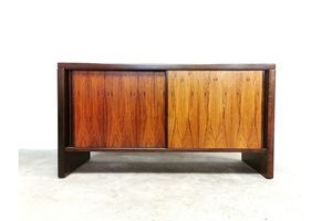 Thumb danish mid century modern rosewood slide door credenza sideboard 0