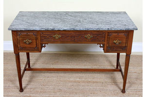 Thumb antique marble mahogany table writing desk fine quality victorian washstand 0