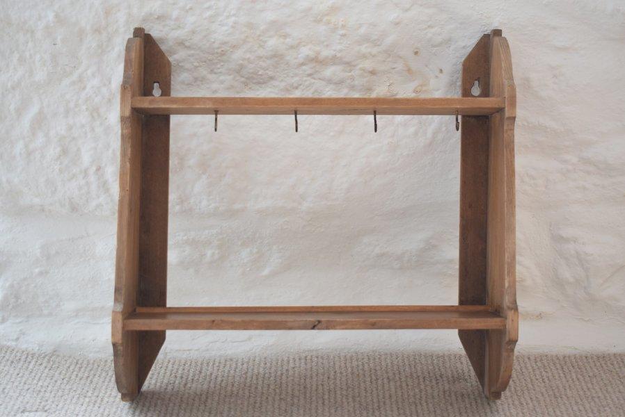 Wondrous Antique Pine Kitchen Rack Shelf Unit Download Free Architecture Designs Remcamadebymaigaardcom