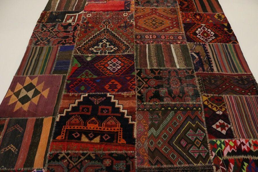Nomad Kilim Patchwork Antique Look Persian Rug Oriental 2 41 X 1 84