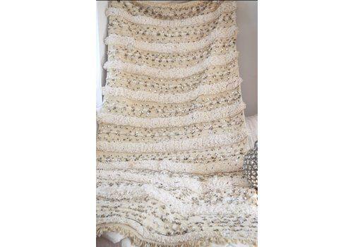 Vintage Moroccan Wedding Blanket Large Handira Blanket Throw