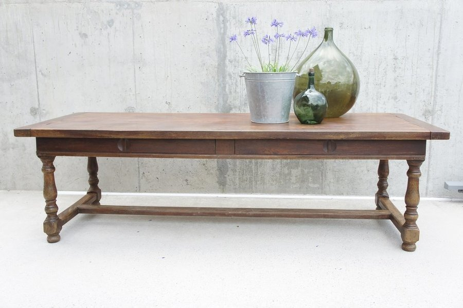French Solid Oak Refectory Farmhouse Table
