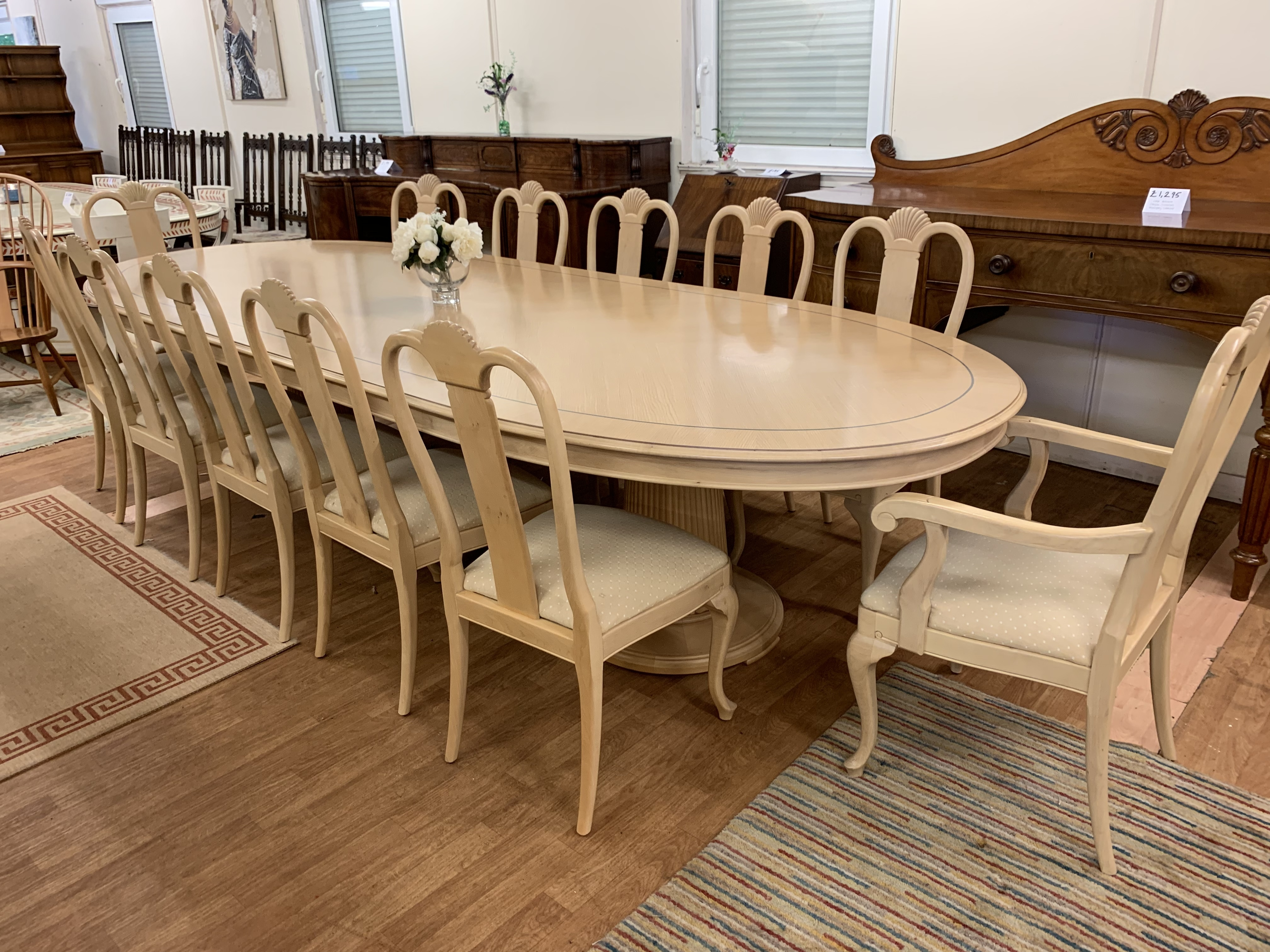 Incredible Large Dining Table 12 Chairs Light Wood Queen Anne Style Conference Table Download Free Architecture Designs Scobabritishbridgeorg