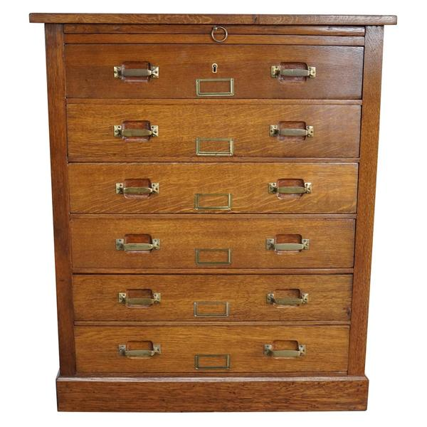 French Oak Apothecary Cabinet, 1930s