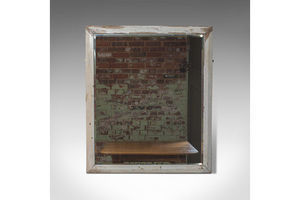 Thumb large antique wall mirror english victorian painted pine circa 1900 0