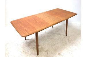 Thumb vintage retro mid century 1960s danish era blonde oak extending dining table 0