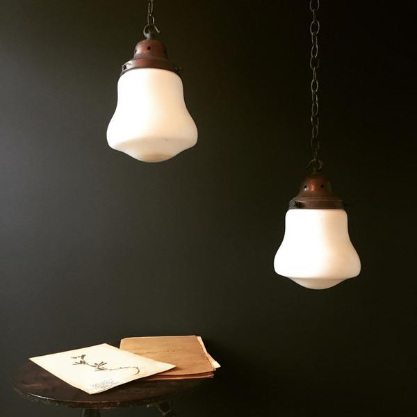 Pair Of Victorian Opaline Lights photo 1